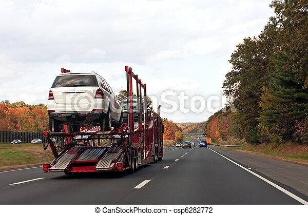 Truck Transporting Cars - csp6282772