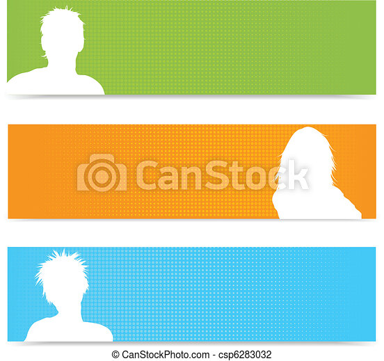 People avatar banners - csp6283032