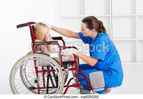 關心, 醫學, 工人 - csp6283255