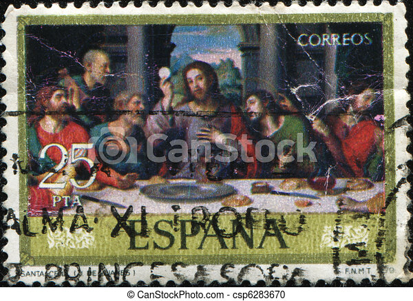 Juan de Juanes - The last supper  - csp6283670