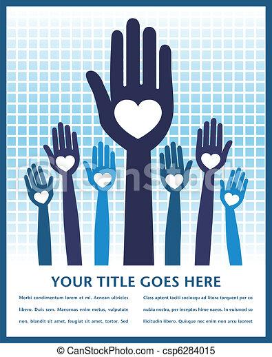 Caring loving hands design. - csp6284015