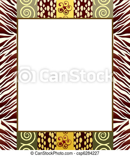 African Border Designs Clip Art