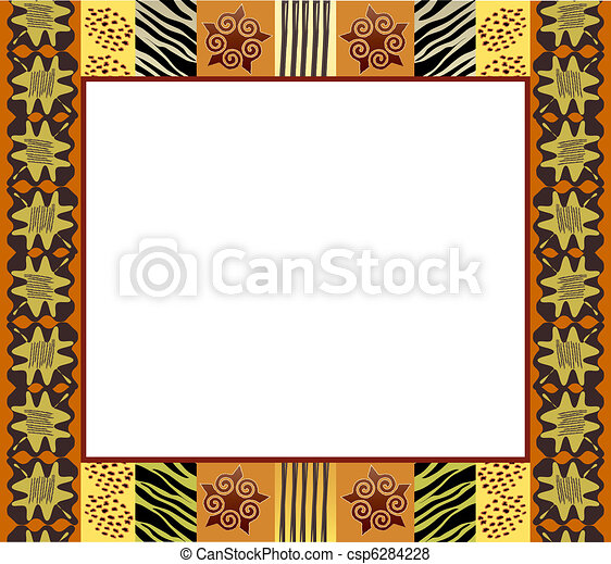 African Style Frame 1 6284228 on Name Tag Template With Animals 9