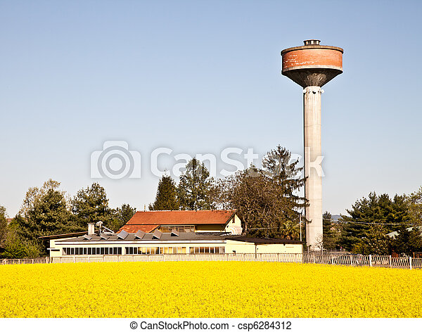 Country and water tower - csp6284312