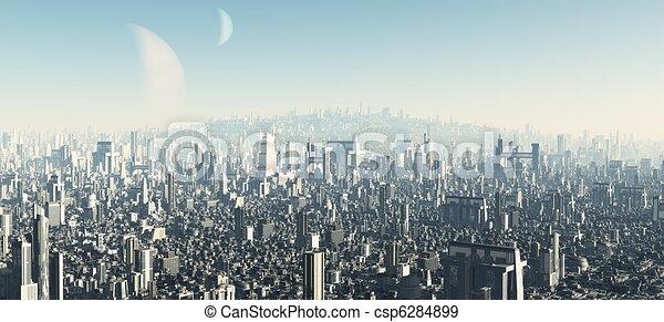 Futuristic Cityscape - 2 - csp6284899