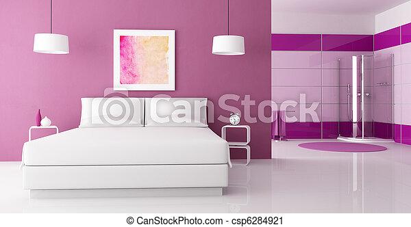 Stock fotografie van paarse douche cabine slaapkamer paarse slaapkamer csp6284921 - Cabine slaapkamer meisje ...