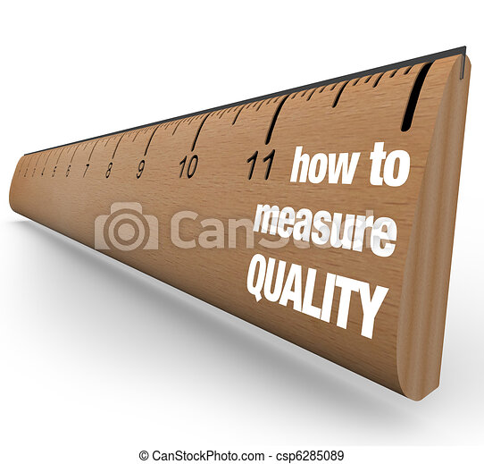 Ruler - How to Measure Quality Improvement Process - csp6285089