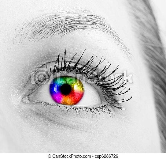 ojo, humano - csp6286726