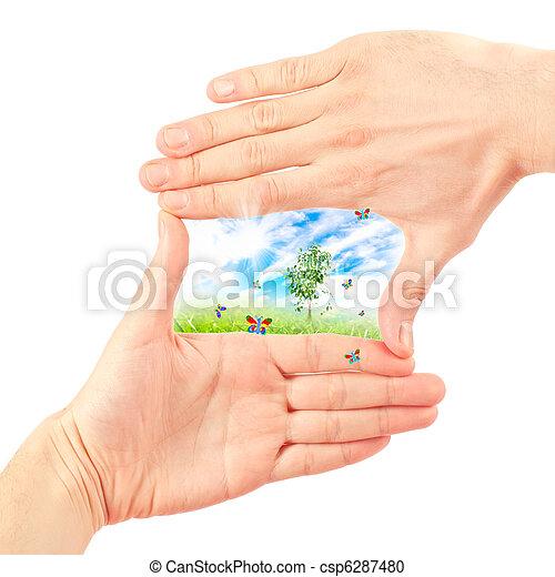 Symbol of the environment. - csp6287480