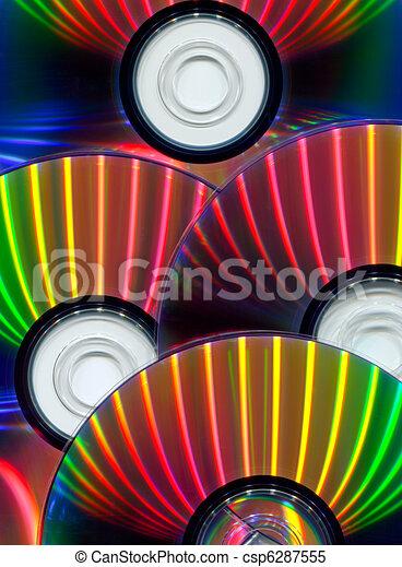 Close-up of CDs - csp6287555