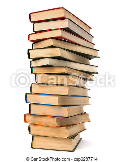 book stack  - csp6287714