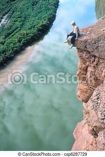 Man on a Ledge - csp6287729