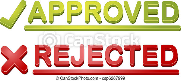 Accepted rejected icon illustration - csp6287999