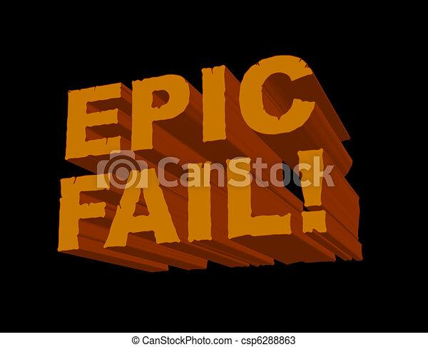 Epic Fail Clipart Epic Fail 3d Csp6288863