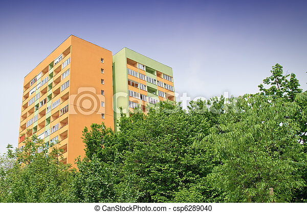 Insulated block of flats - csp6289040