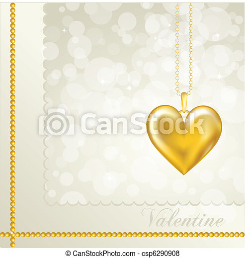 Gold heart - csp6290908