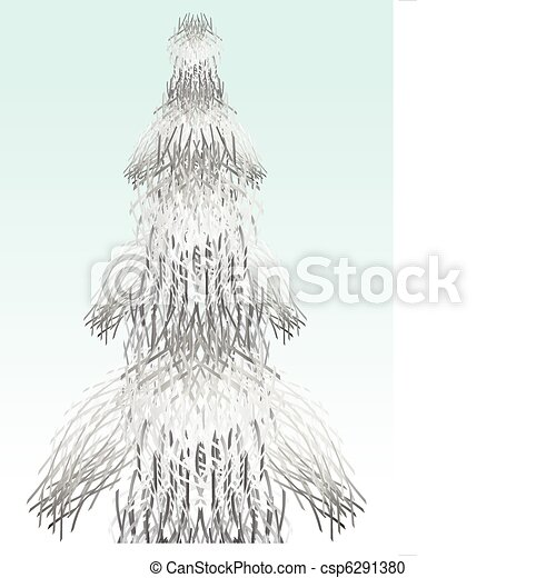 Tree of tinsel.  - csp6291380