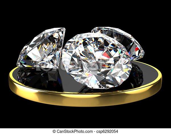 Three diamonds - csp6292054