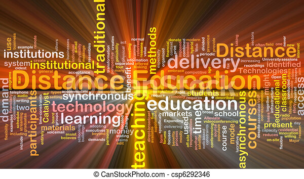 Distance education background concept glowing - csp6292346