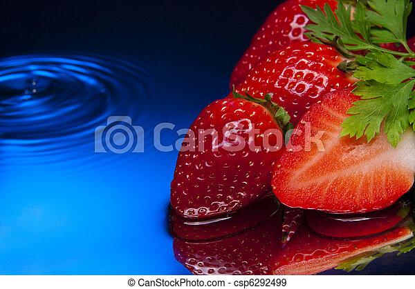 strawberry red blue aqua diet - csp6292499