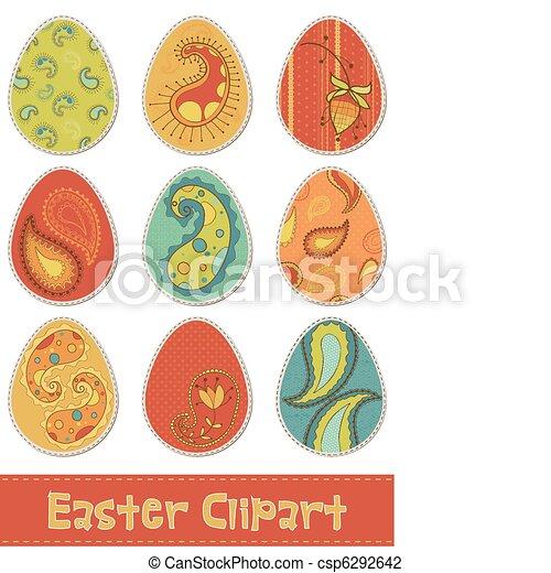 Easter Eggs Design Elements for Scrapbooking - csp6292642
