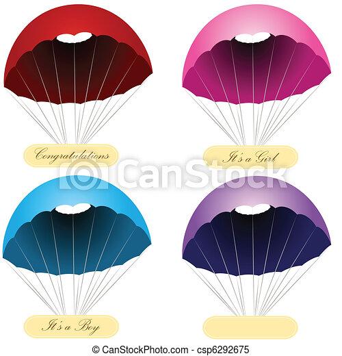 Parachute Message Labels - csp6292675