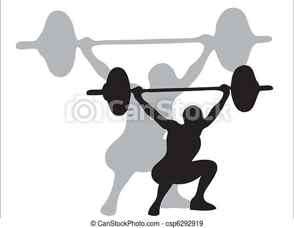 Lifting weights - csp6292919