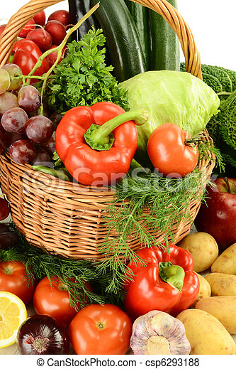 Raw vegetables - csp6293188