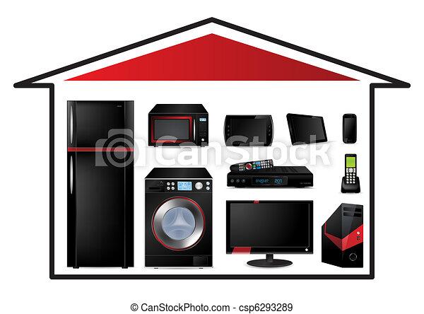 Home appliances concept - csp6293289