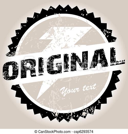 Original grunge stamp - csp6293574