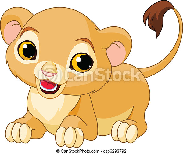 Cute lion drawing - photo#26