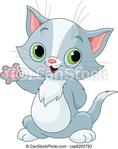Kitten showing - csp6293793
