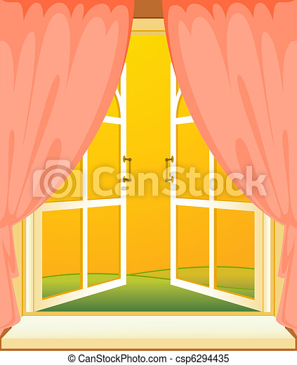 facade of house with window - csp6294435