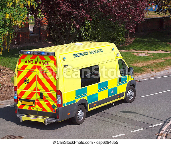 Emergency Ambulance Leaving Base - csp6294855