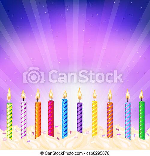 Birthday Candles - csp6295676