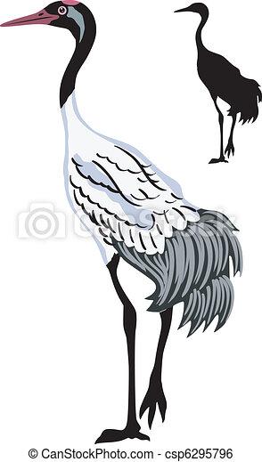 whooping crane - csp6295796