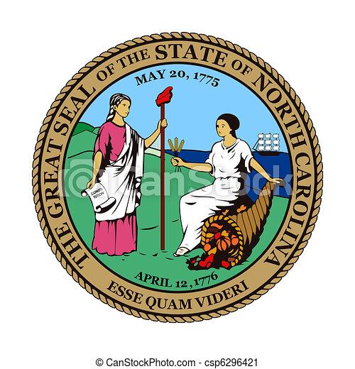 North Carolina state seal - csp6296421