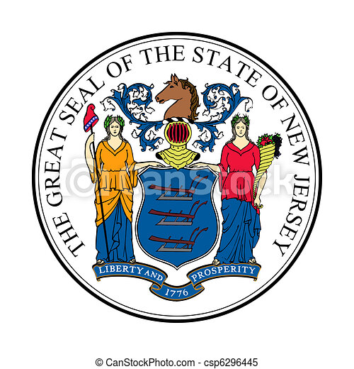 New jersey state seal - csp6296445