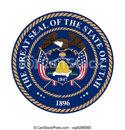 Utah state seal - csp6296560