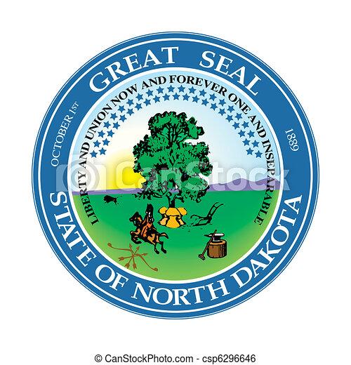 North Dakota state seal - csp6296646