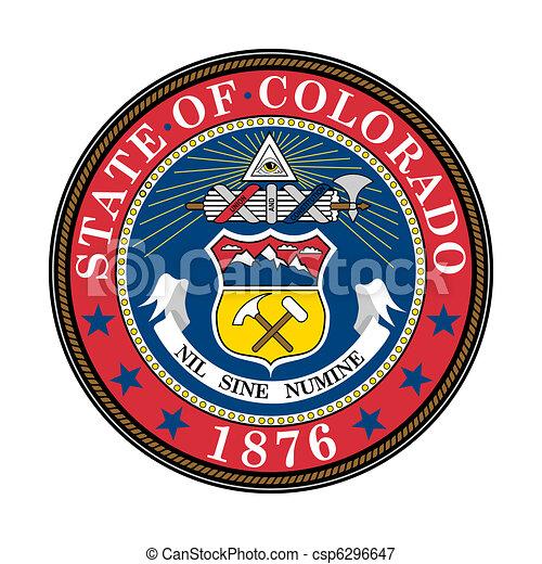 Colorado state seal - csp6296647