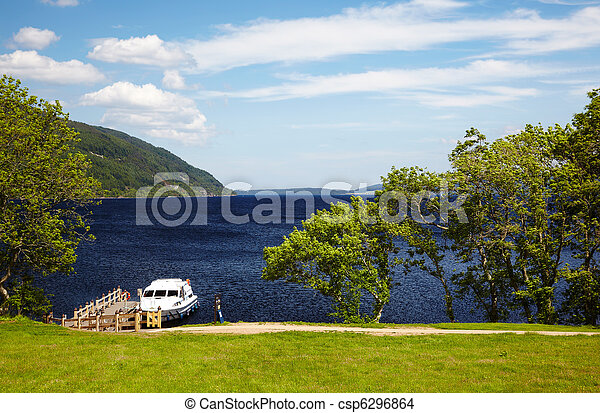 planked footway on Loch Ness - csp6296864