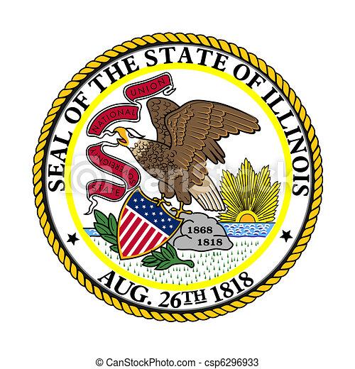 Illinois state seal - csp6296933