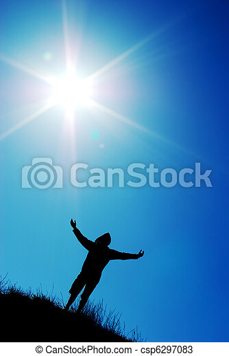 Worship to sun - csp6297083