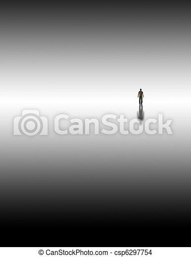 Man meets inner consciousness - csp6297754