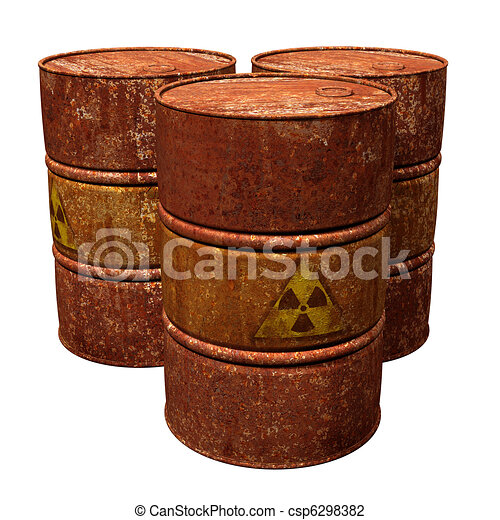 Clip Art of Toxic Waste Drums - Isolated illustration of ...