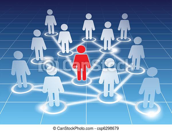 Social network members - csp6298679