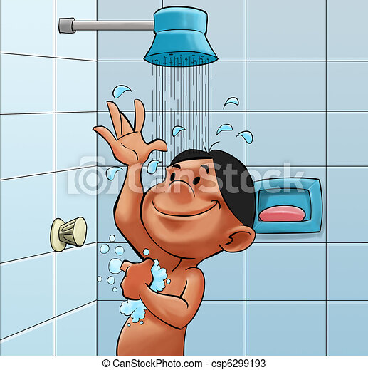 Drawings Of Take A Shower Boy In A Bath Room Taking A