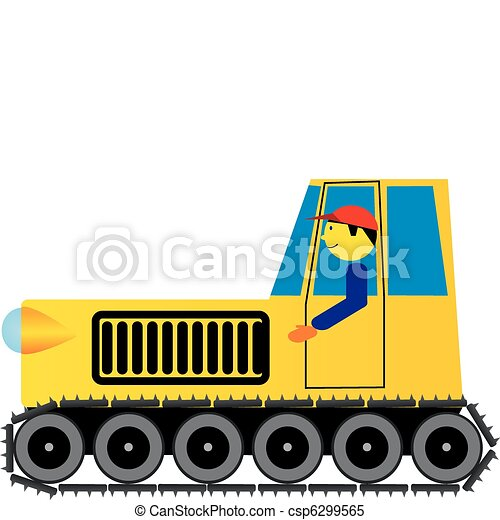 operator and a tractor - csp6299565