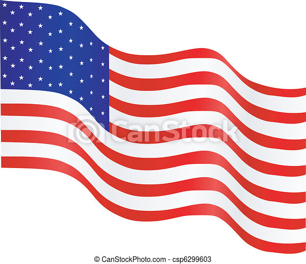 National flag of the USA - csp6299603